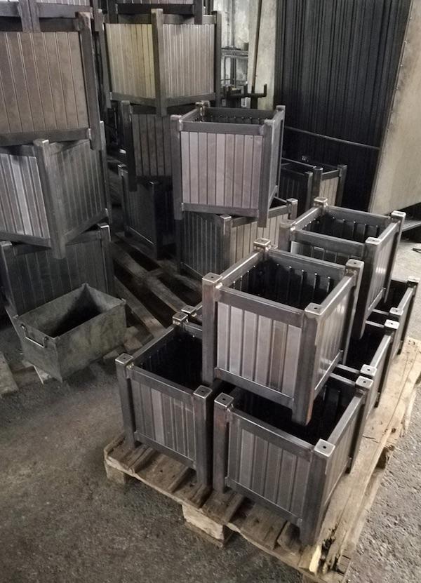 Metall Pflanzkübel